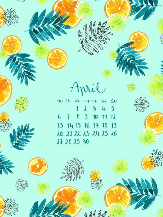 April Calendar 2020 For Iphone