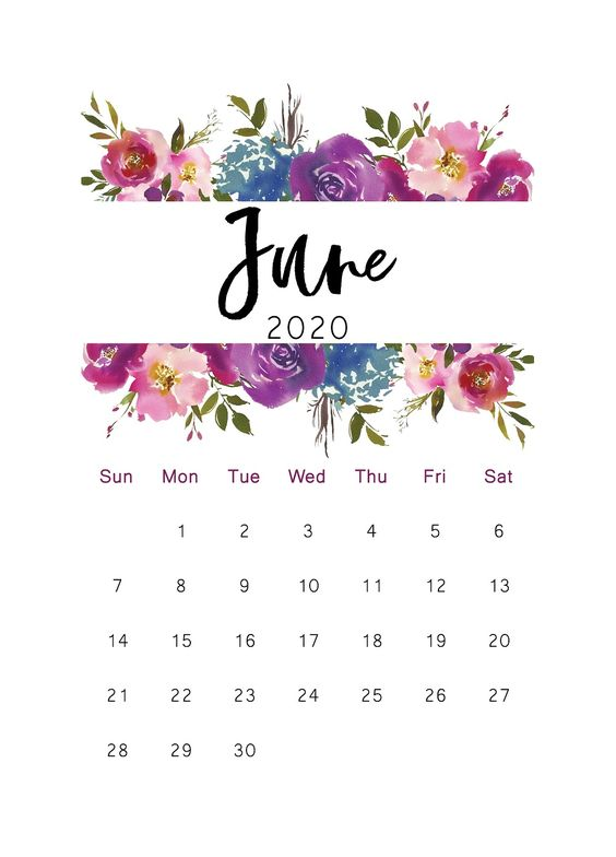 June 2020 Calendar Example Free Cactus Ideas