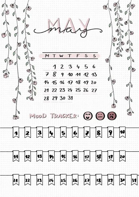 May 2020 Calendar Ideas Example Buller Journal