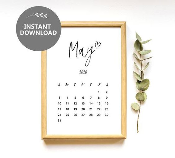 May 2020 Calendar Ideas Example For Birthday
