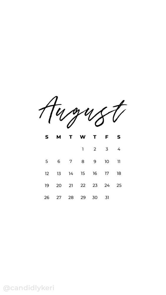August 2020 Calendar Wallpaper Iphone 11 Mobile