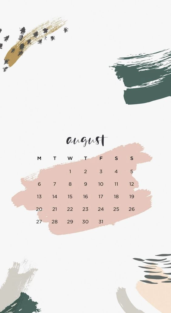 August 2020 Calendar Wallpaper Iphone Aesthetic Drawing