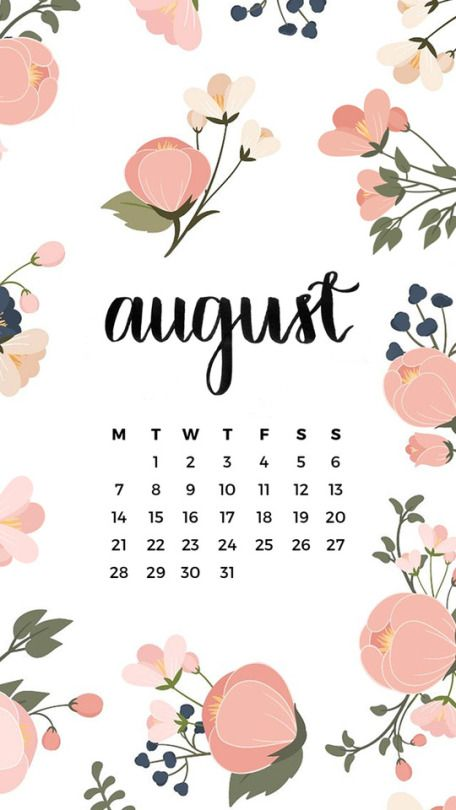 August 2020 Calendar Wallpaper IphoneCurly Girl From Tumblr
