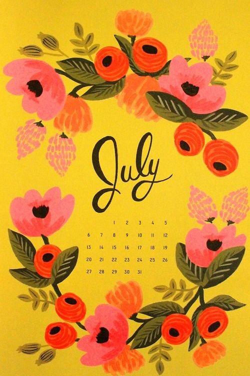 Beautiful flower July 2020 Calendar Wallpaper