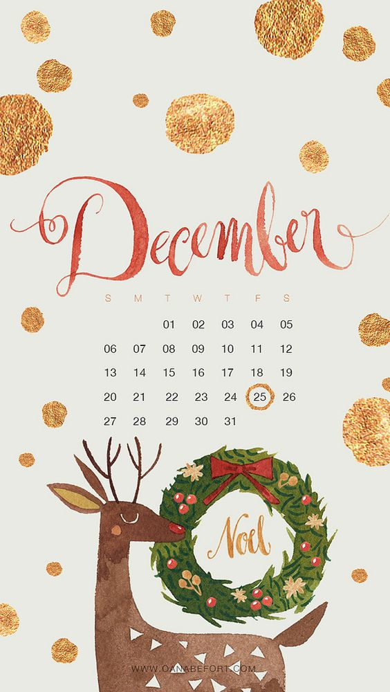 December 2020 Calendar Inspiration Design Iphone Android Wallpaper