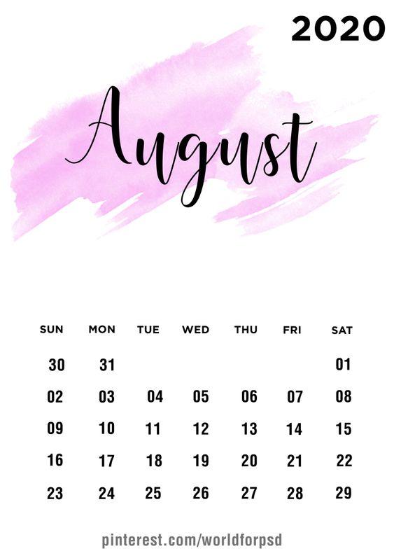 Designs Ideas August 2020 Calendar Wallpaper Iphone
