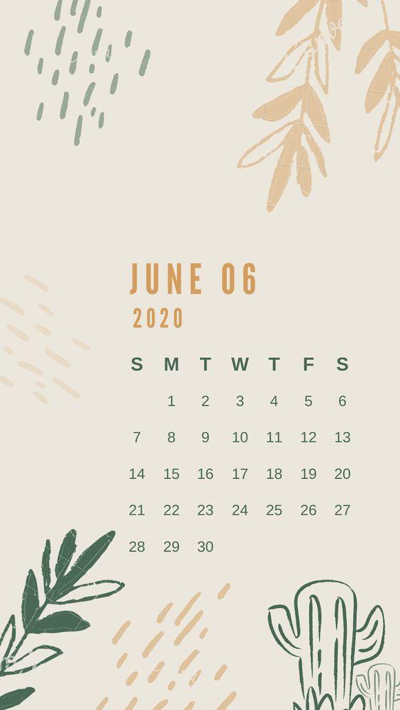 Floral Watercolor July 2020 Calendar Wallpaper