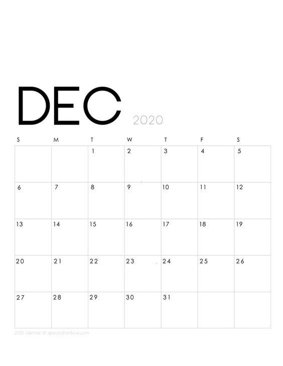 Flower December 2020 Calendar Inspiration Design Floral Painting