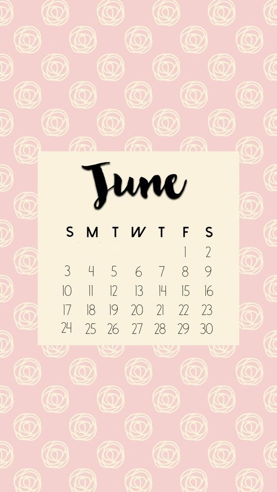 Flower June 2020 Calendar Wallpaper Iphone
