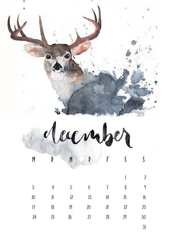 Handmade November 2020 Calendar