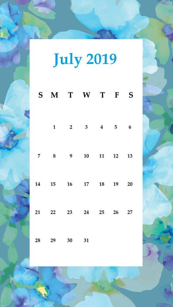 Iphone July 2020 Calendar Wallpaper