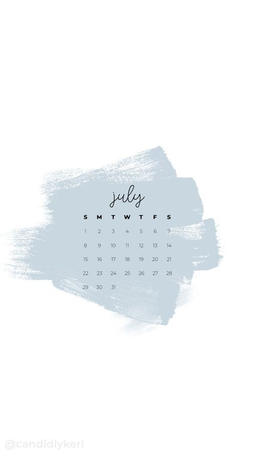 July 2020 Calendar Wallpaper Iphone MObile