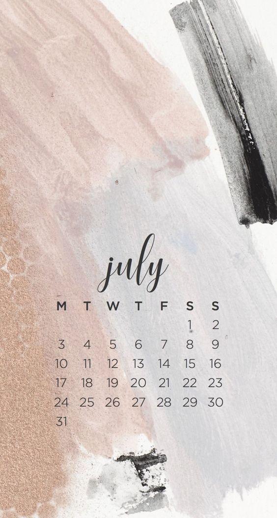 July 2020 Calendar Wallpaper Natural
