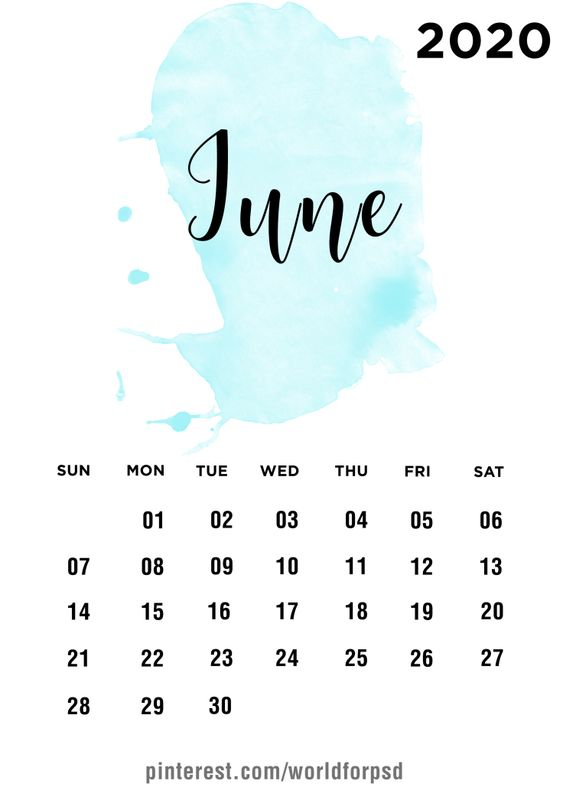 June 2020 Calendar Wallpaper Iphone Design Ideas