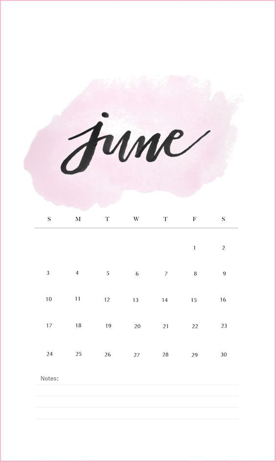 June 2020 Calendar Wallpaper Iphone Pink