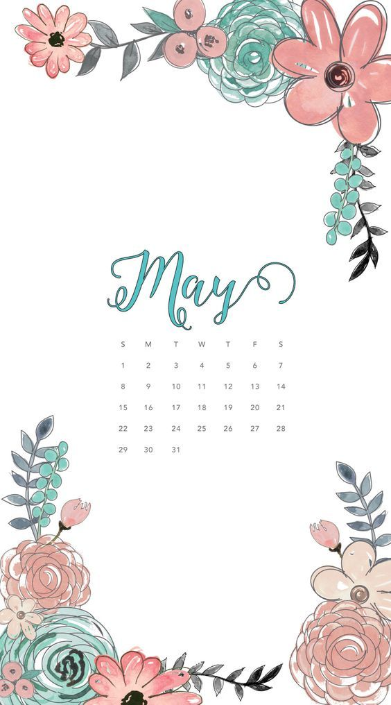 May 2020 Calendar Wallpaper Iphone Floral
