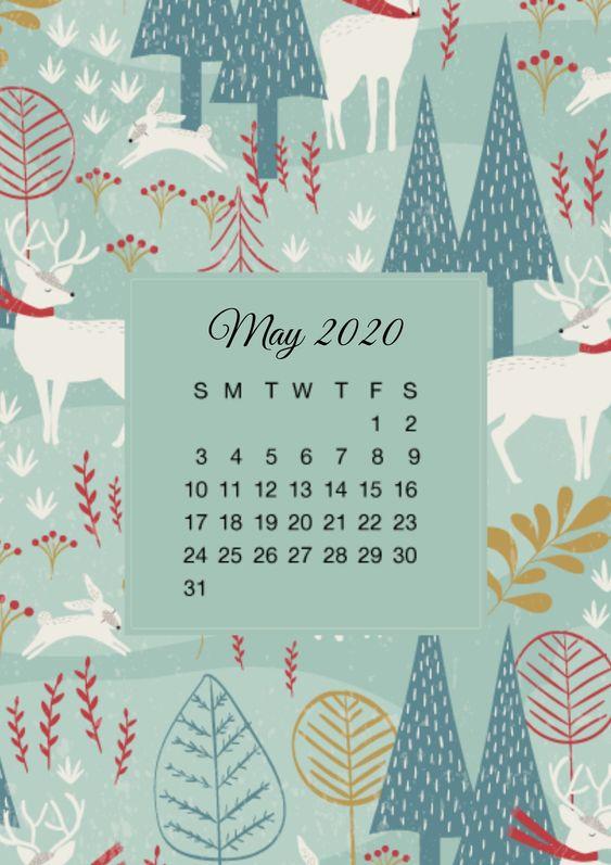 Nice Cute May 2020 Calendar Wallpaper Iphone