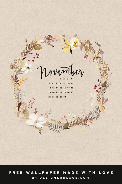November 2020 Calendar Beatiful Watercolor