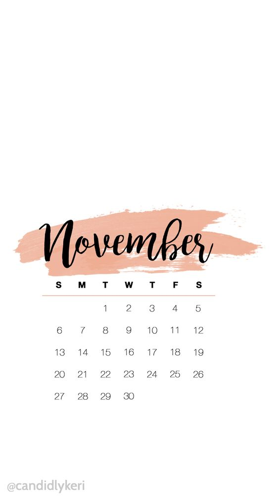 November 2020 Calendar Wallpaper For Iphone Android