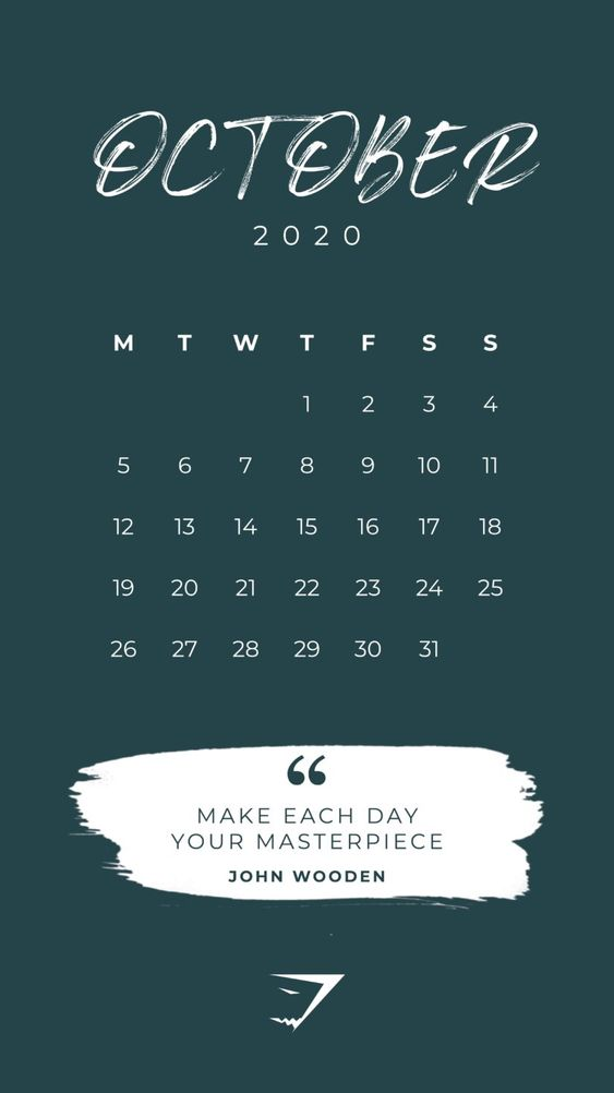 September 2020 Calendar Wallpaper Iphone Quotes Make Each Day Your Masterpiece