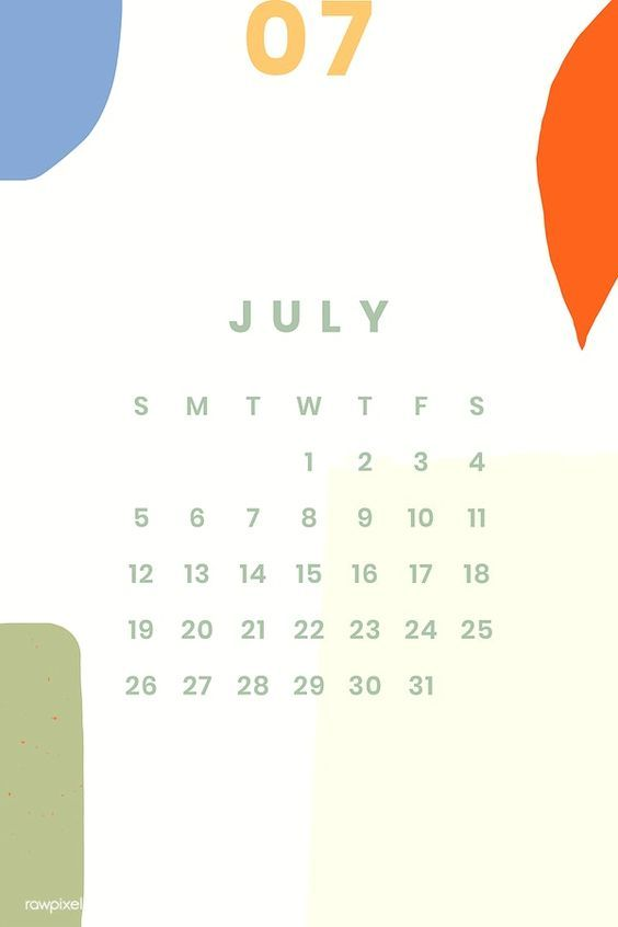 July 2020 Calendar Wallpaper Free Download