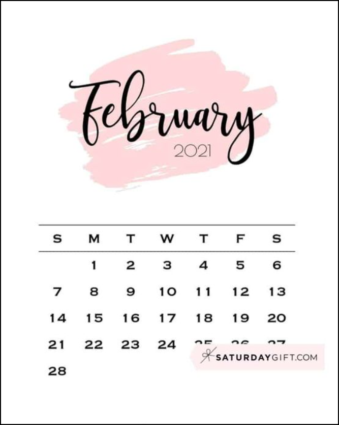 February 2021 Inspiration Design Cute Free Pink