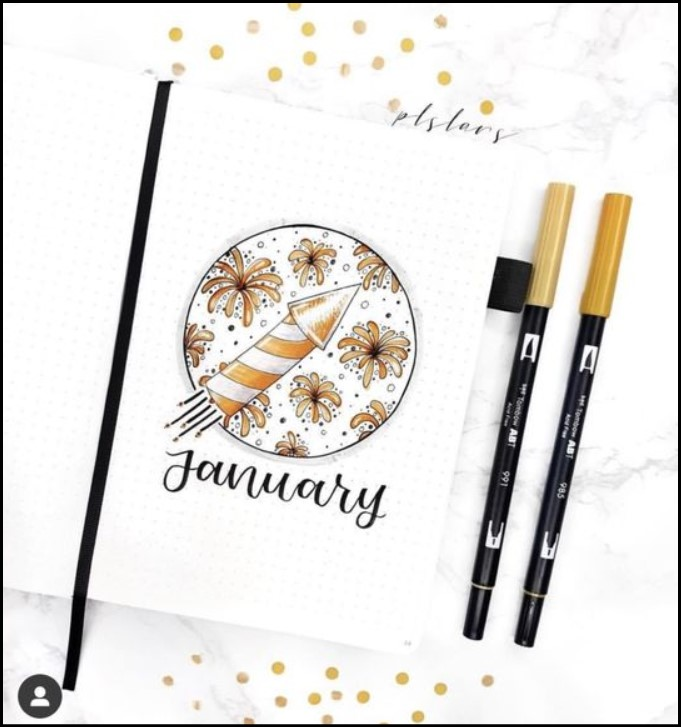 cover bullet journal ideas rocket example