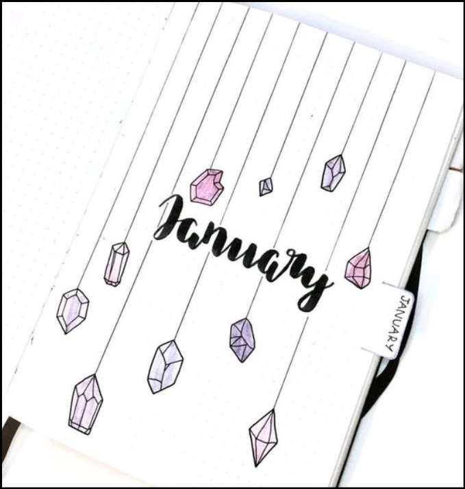 Bullet Journal January Cover Ideas