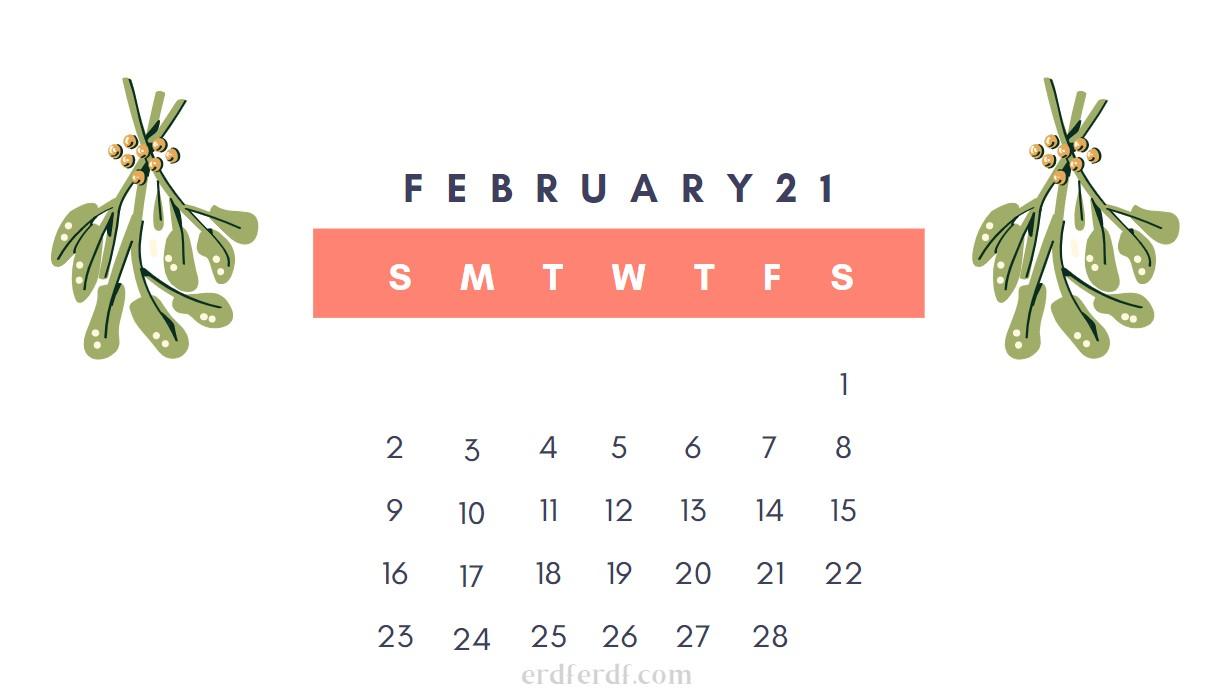 February Cute 2021 Calendar