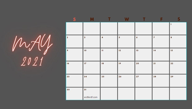 May 2021 Calendar Printable Blank 2