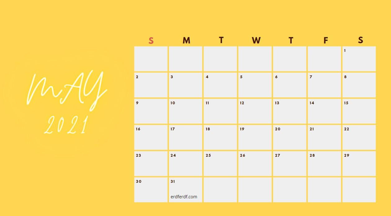 May 2021 Calendar Printable Blank
