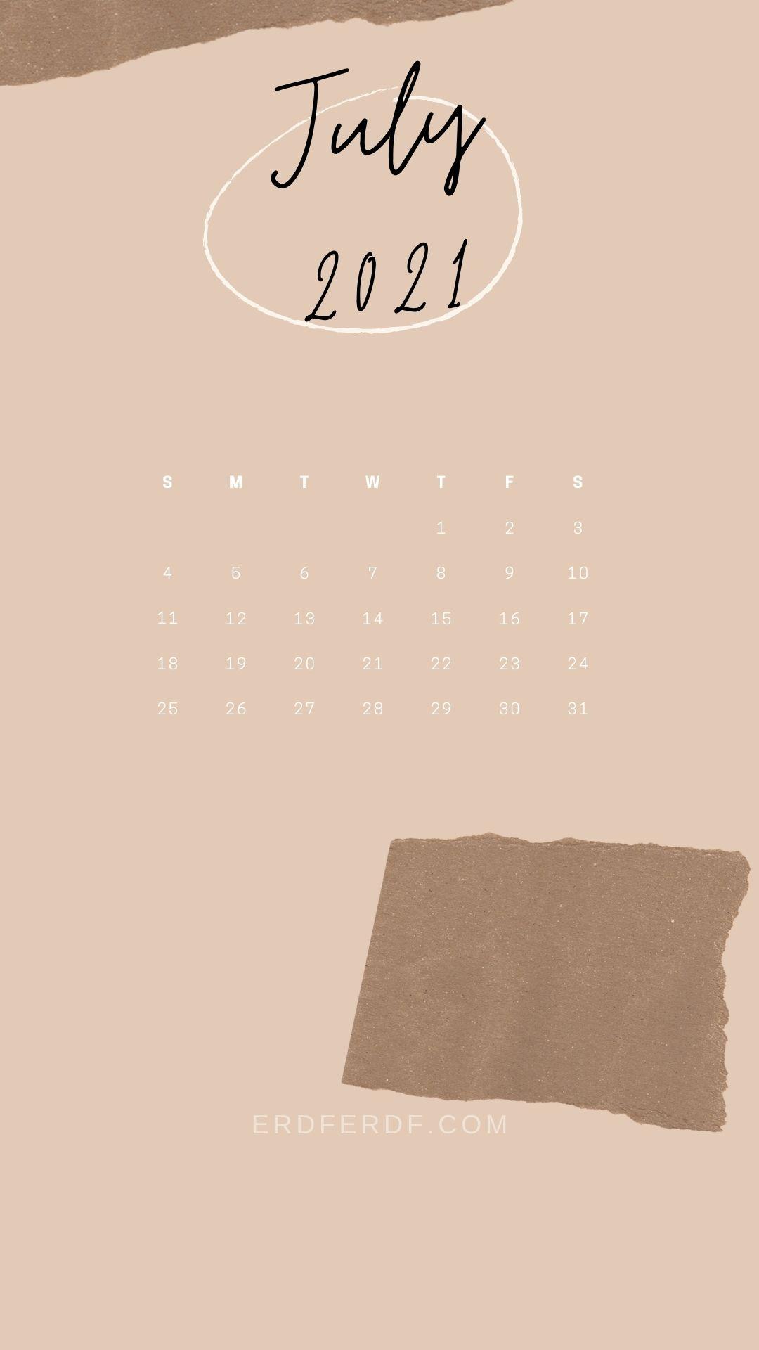 4 July 2021 Callendar Wallpaper Iphone