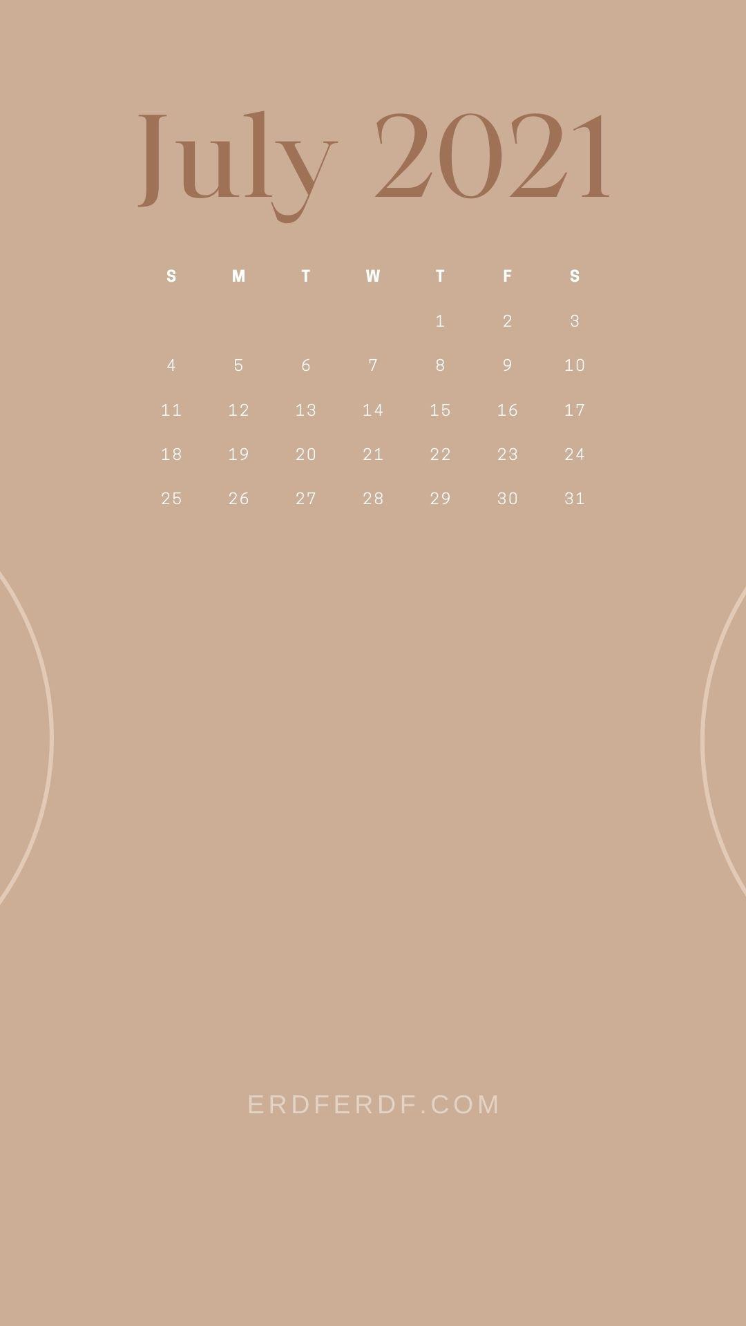 5+ July 2021 Callendar Wallpaper Iphone