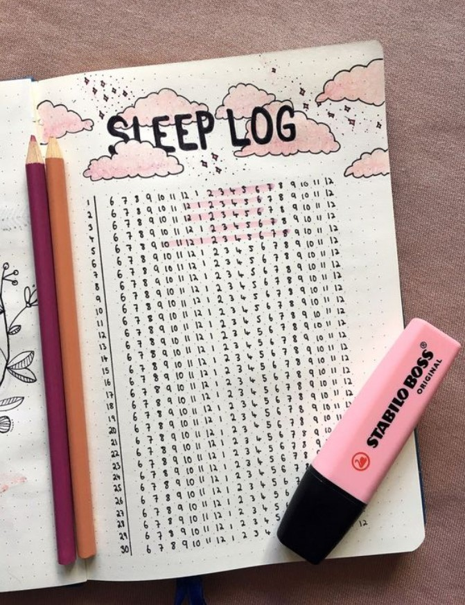 Daily tracker sleep log bullet juornal