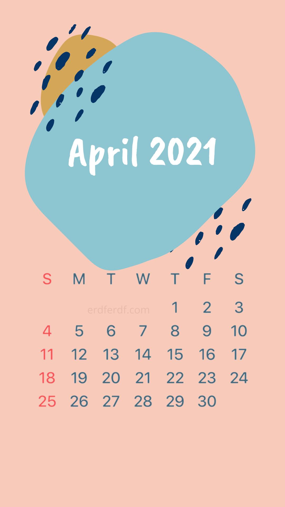Iphone Wallpaper April 2021 Calendar Orange