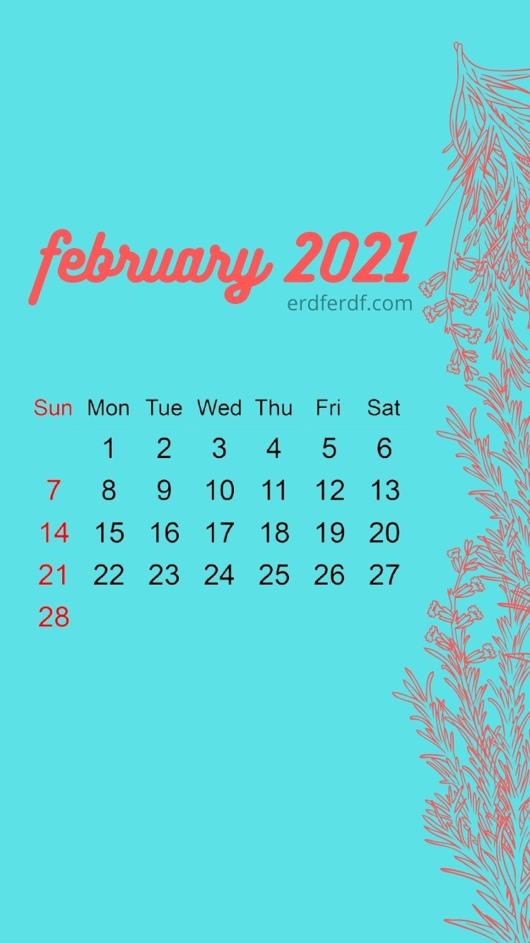 Iphone Wallpaper February 2021 Calendar