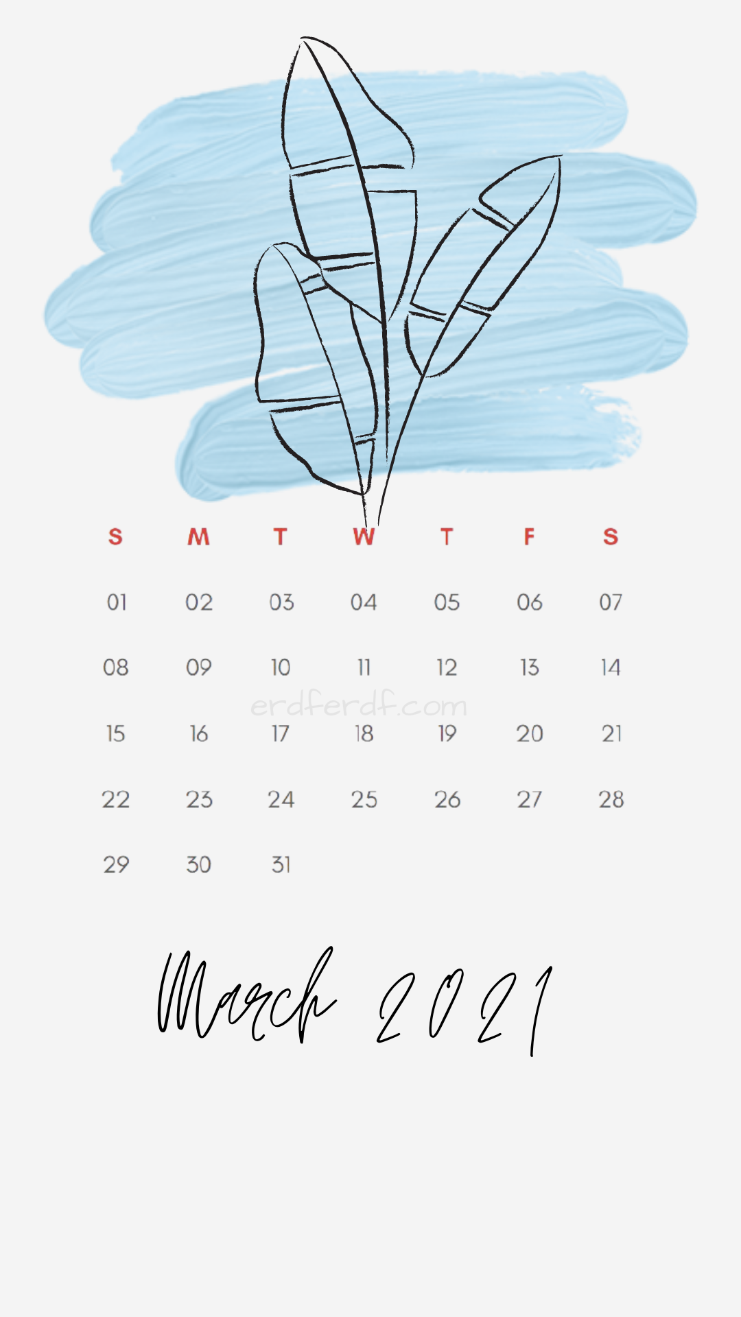 Iphone Wallpaper March 2021 Calendar Free White Floral
