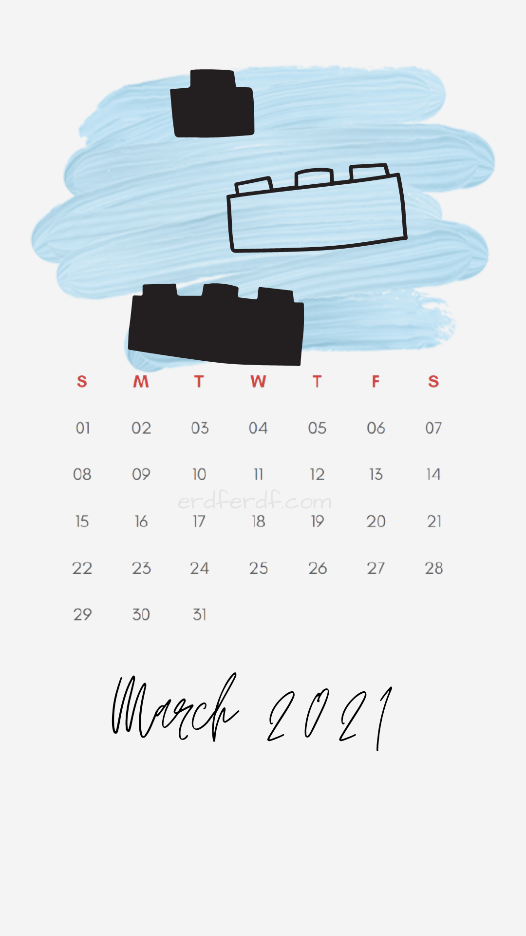 Iphone Wallpaper March 2021 Calendar Free White Lego
