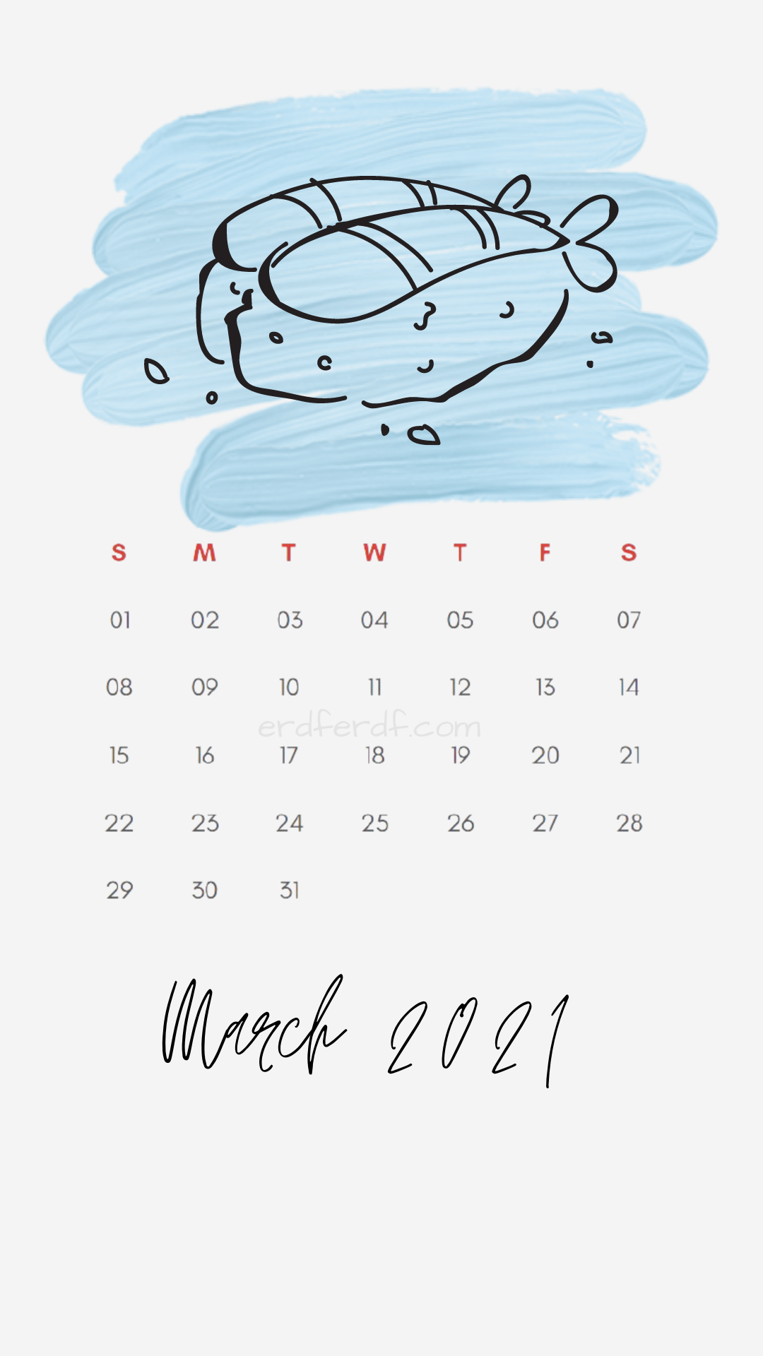 Iphone Wallpaper March 2021 Calendar Free White Meat