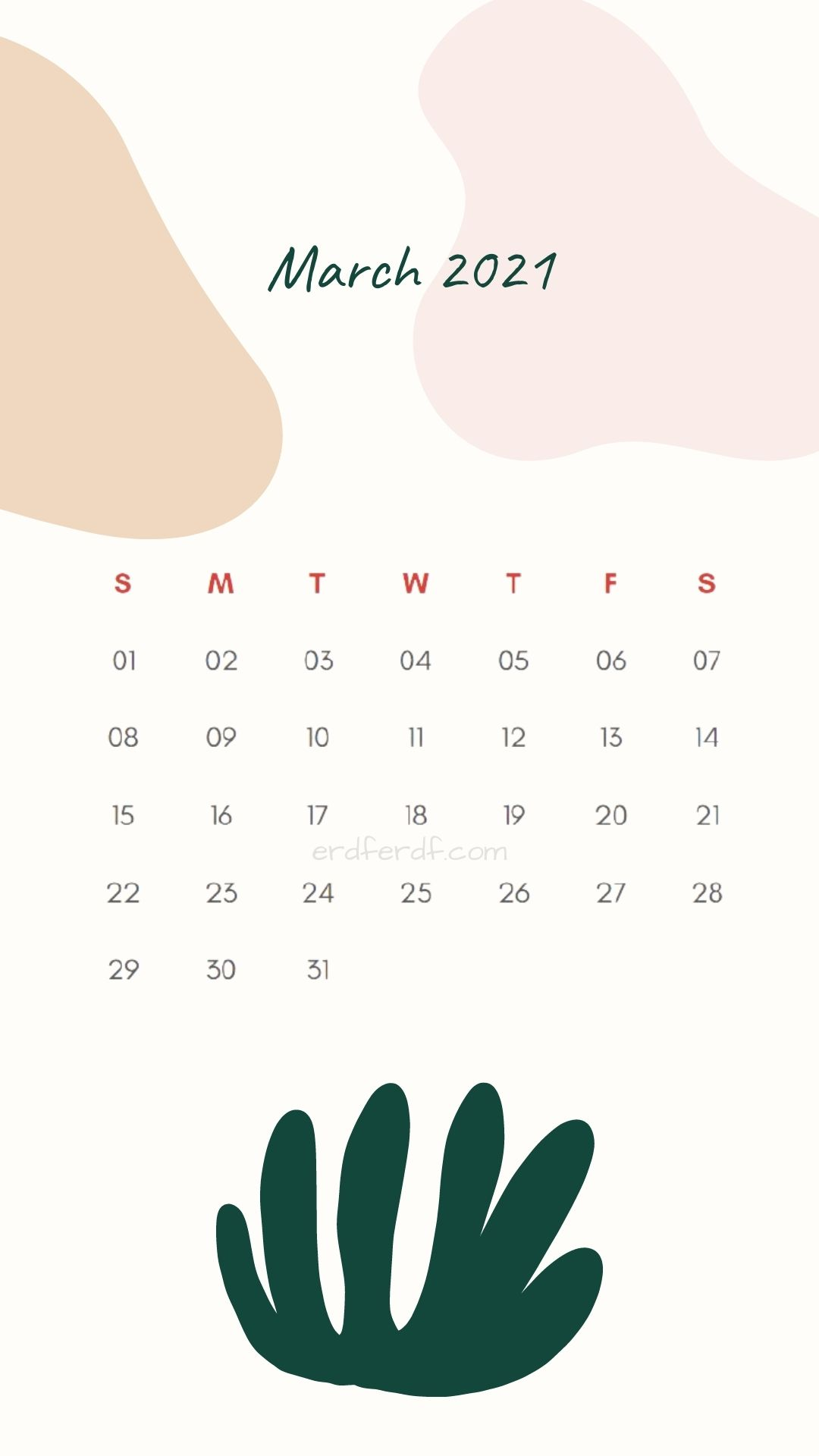 Iphone Wallpaper March 2021 Calendar Free White Love