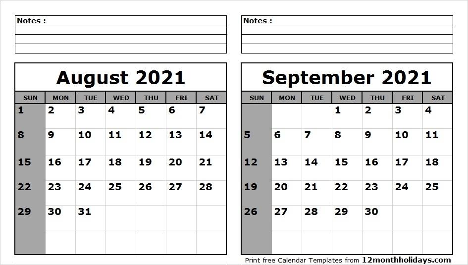 august september 2021 calendar qualads::September 2021 Calendar With Note