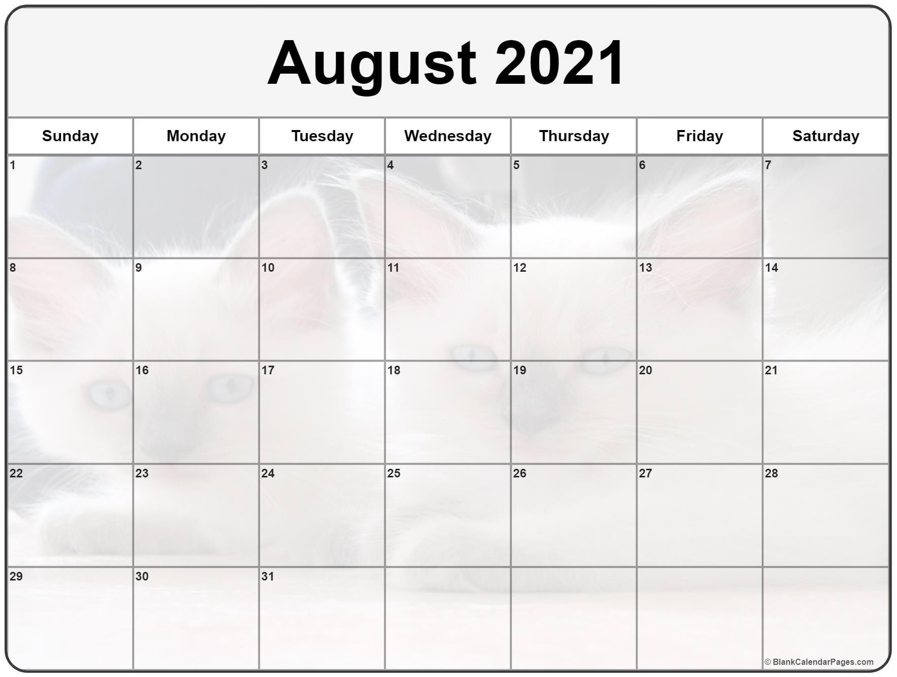 collection of august 2021 photo calendars simple::Cute Agust 2021 Calendar