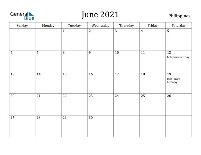 Asia Calendar::June 2021 Calendar With Holiday