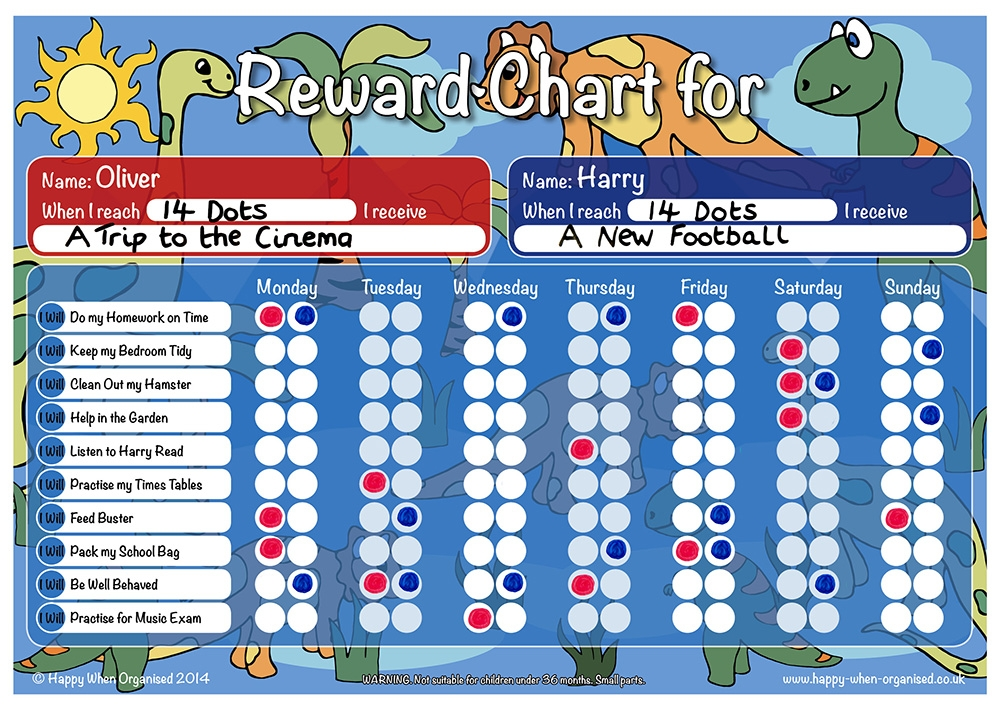 dinosaur theme childs boys girls reward charts quality uk products::Reward Chart For Kids Snoopy