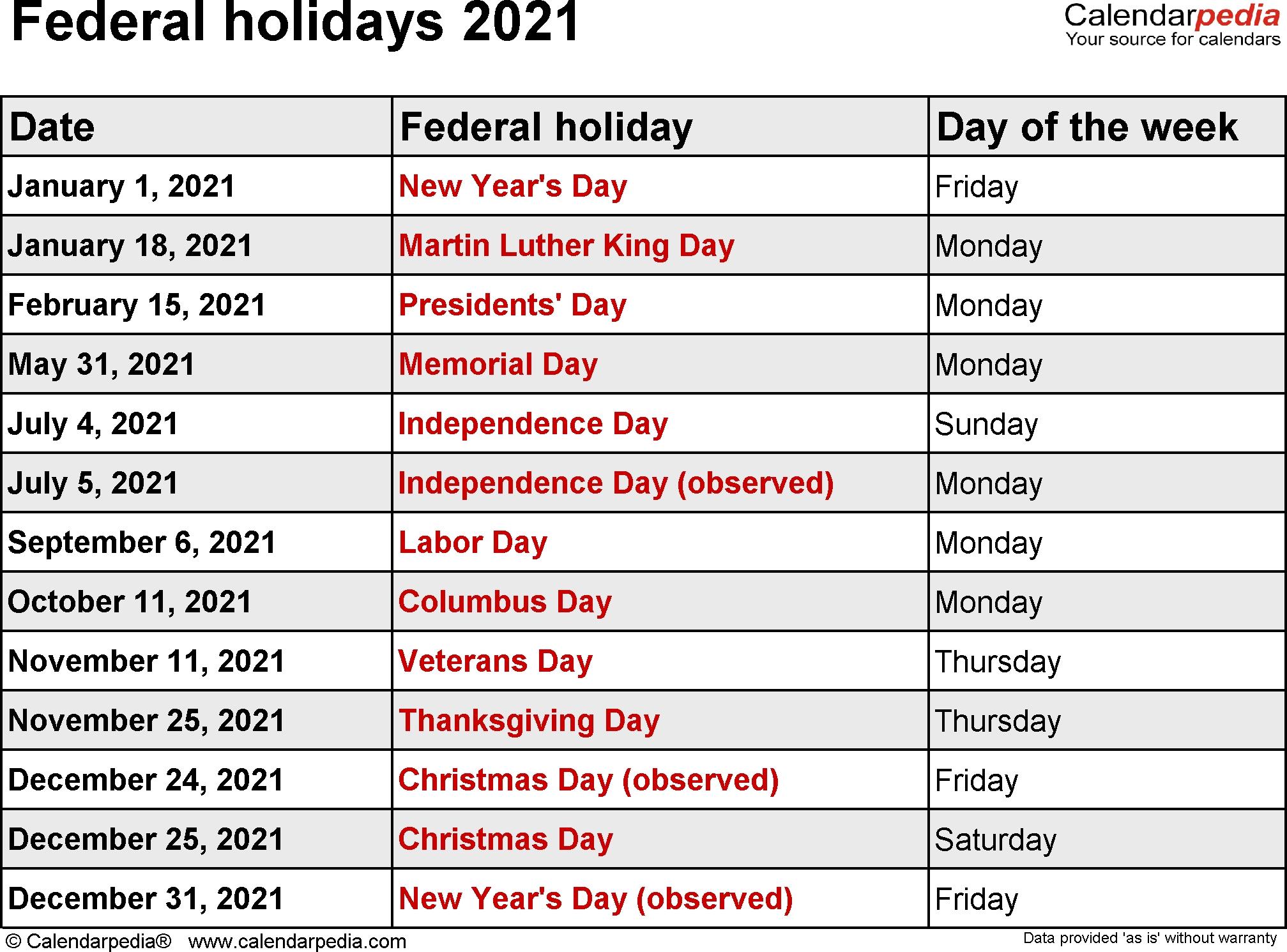 federal holidays 2021::Calendar 2021 UK With Bank Holidays