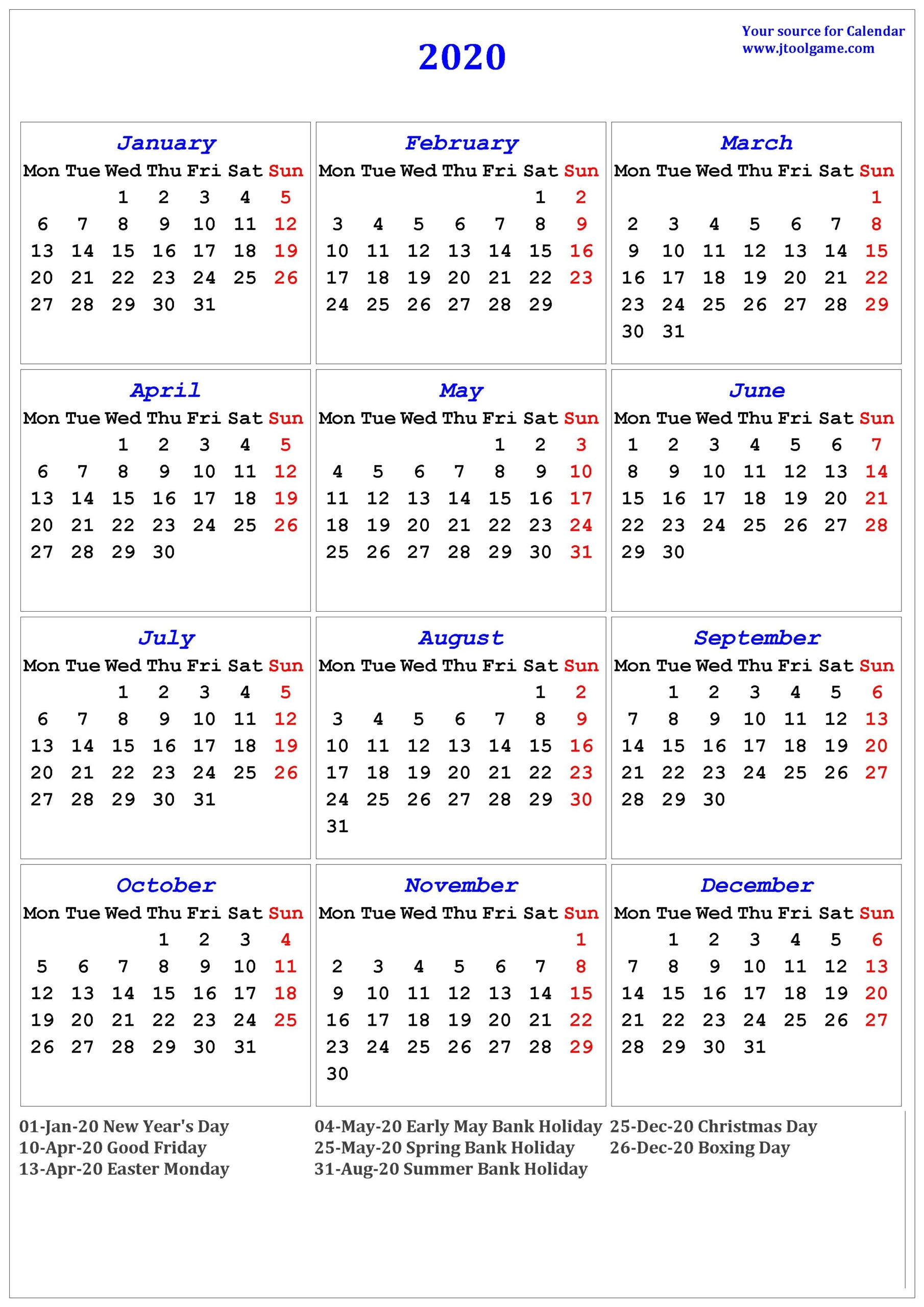 free printable ::Calendar 2021 UK With Bank Holidays