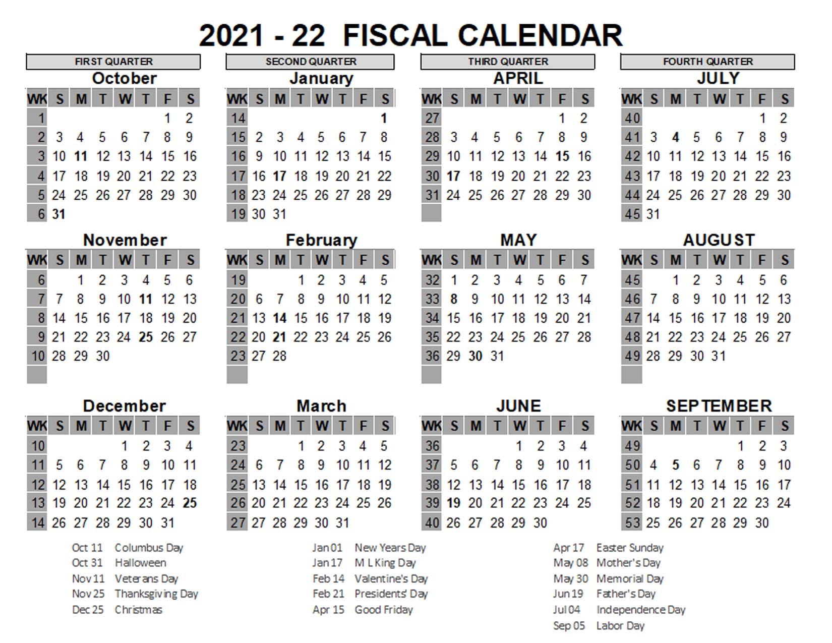 New Calendar::Calendar 2021 Week Number