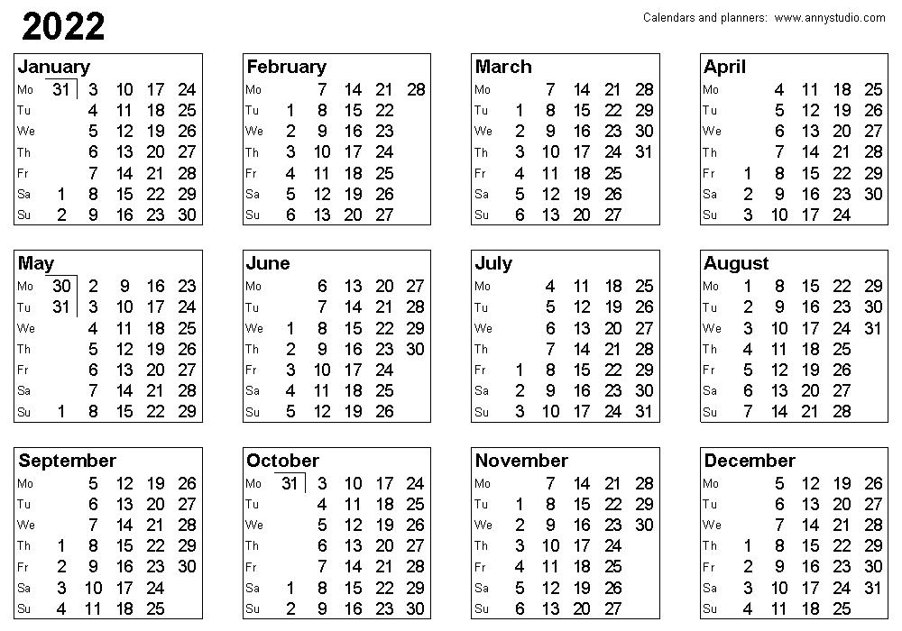 Planners::Calendar 2021 Week Number