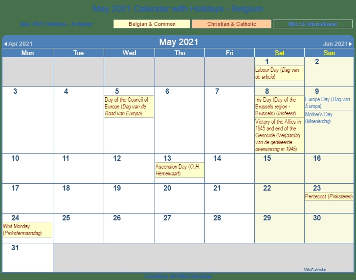Printable Friendly ::may 2021 calendar with holidays