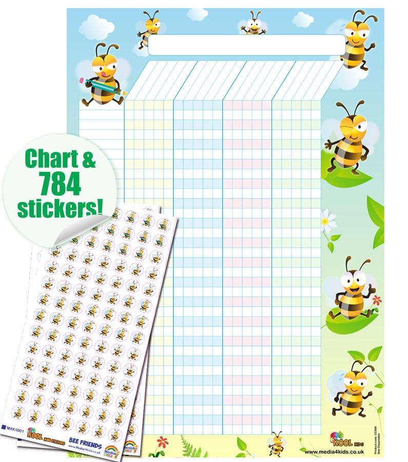 school reward charts bee friends reward chart 784 sticker set free delivery::Reward Chart with Sticker